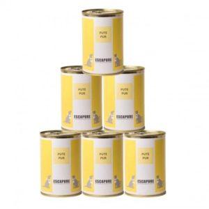 Carne di tacchino in scatola per cani e gatti senza cereali 6pz